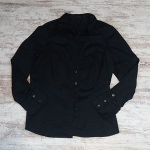 The Limited Essential Black Button Down Shirt Top